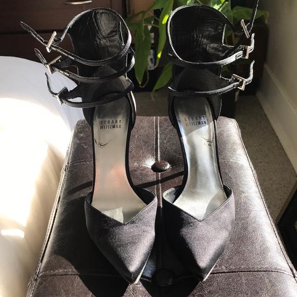 Stuart Weitzman heels with rhinestone straps